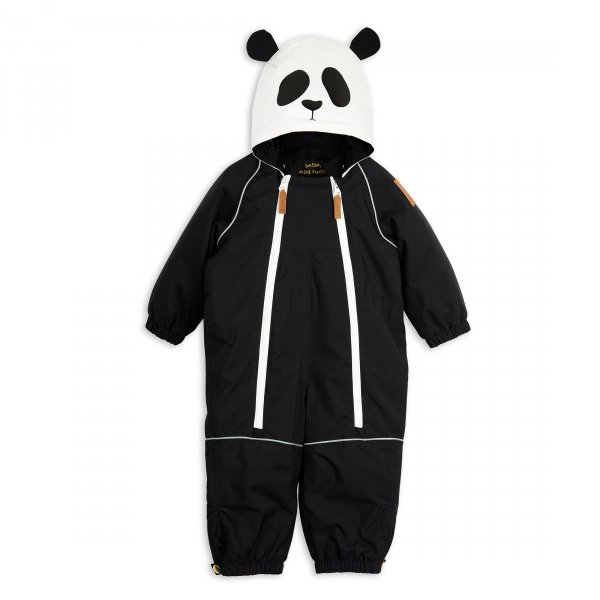 Mini Rodini Panda Schneeanzug Baby Kind vorne