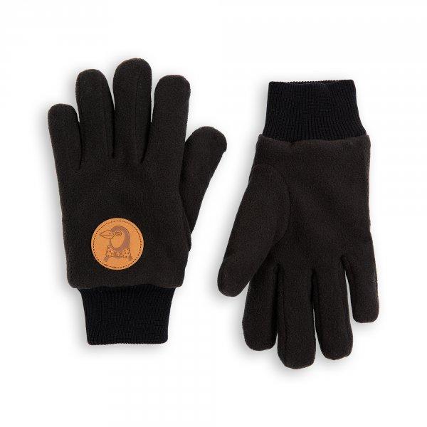 Mini Rodini Fleecehandschuhe schwarz