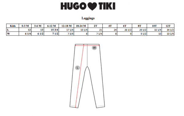 Leggings Critters Hugo loves Tiki