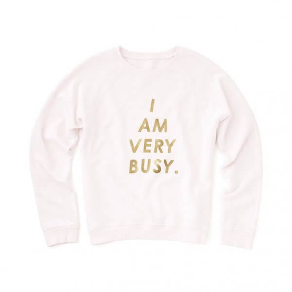 "BAN.DO Sweatshirt ""I am very busy"""