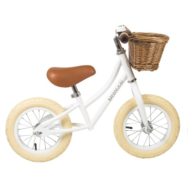 Banwood push bike white