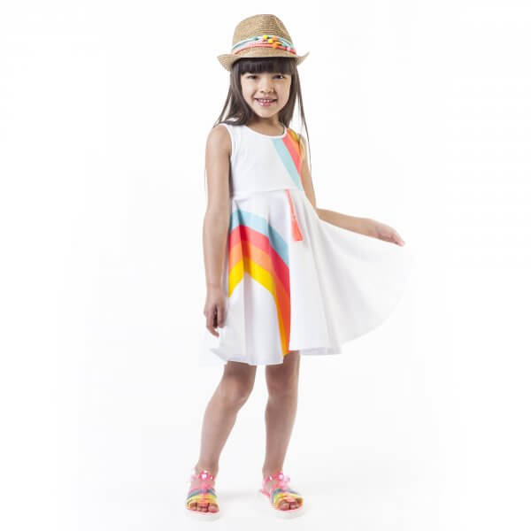 Billieblush weißes Sommerkleid Mädchen