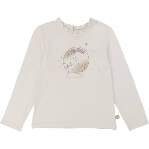 Billieblush white t-shirt snow globe