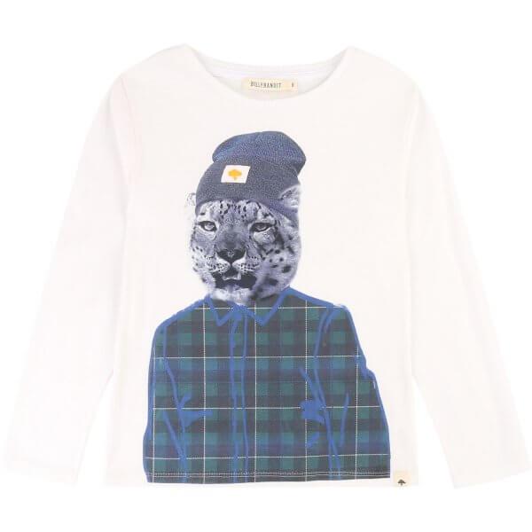 Billybandit-weisses-T-shirt-Gepard