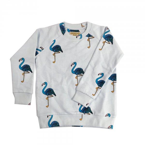 HUGO LOVES TIKI sweatshirt Blue flamingo