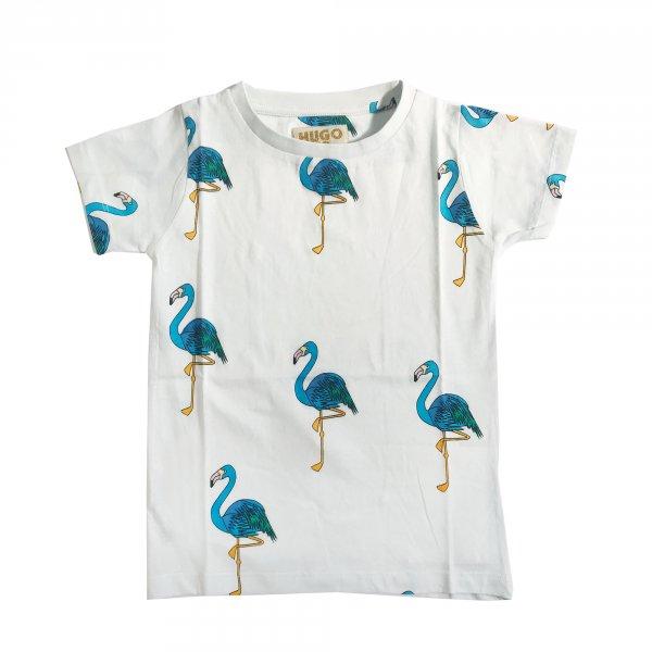 Hugo-loves-tiki-t-shirt-blau-flamingos