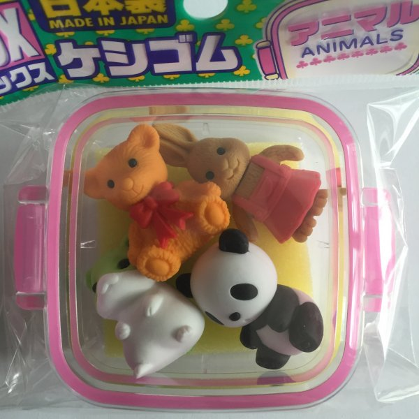 party erasers animals