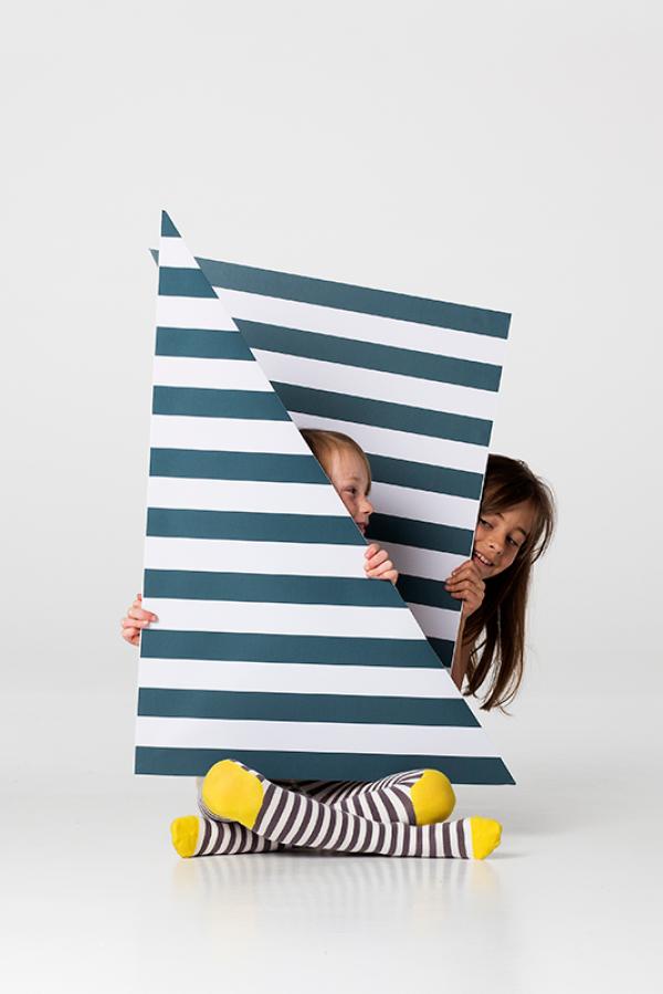 "Sunshine Stripe"" soft cotton tights from UK Brand Braveling"