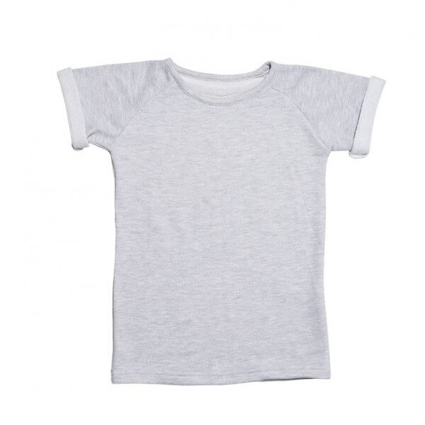 grey sweat t-shirt kids by clara