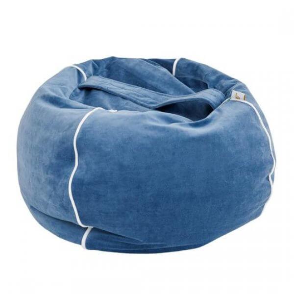 Wigiwama- Samt-sitzsack-blau
