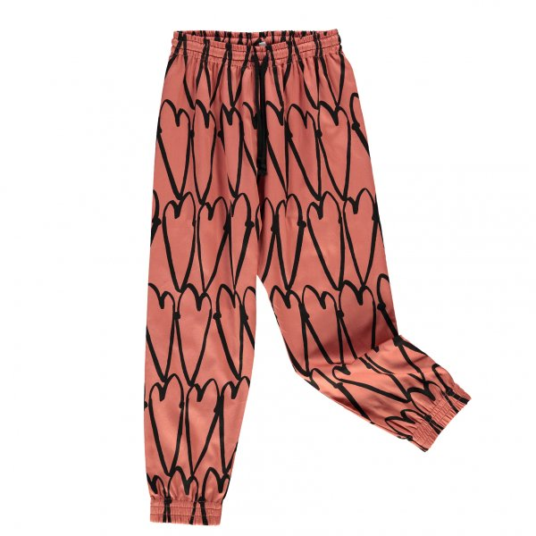 BEAU LOVES drawstring cotton pants lovehearts