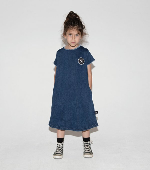 NUNUNU denim dress A-line