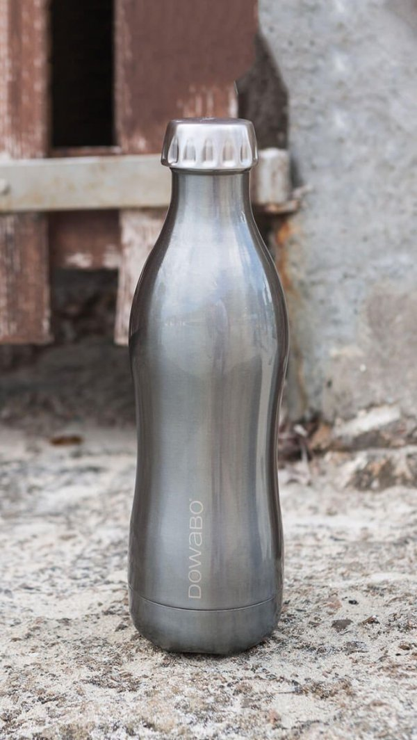 Dowabo- Edelstahl-flasche- silber- metallic-500-ml-schule
