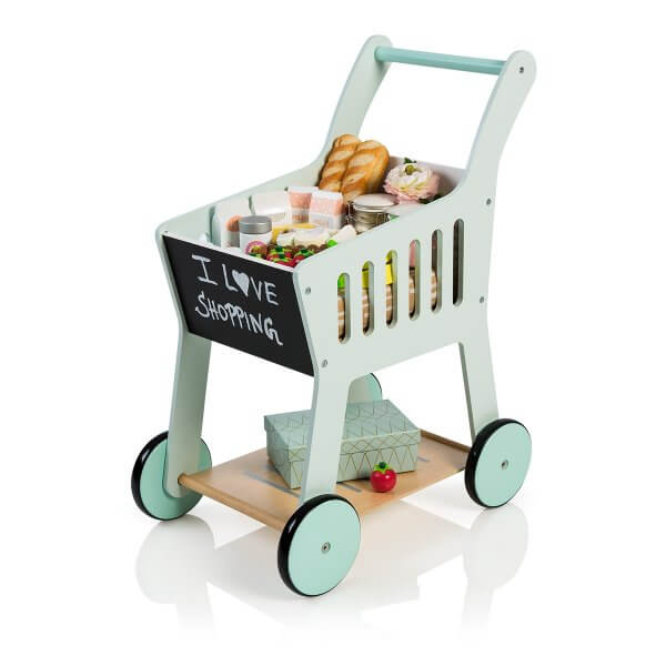 "Musterkind wooden shopping cart ""Rubus"", mint"