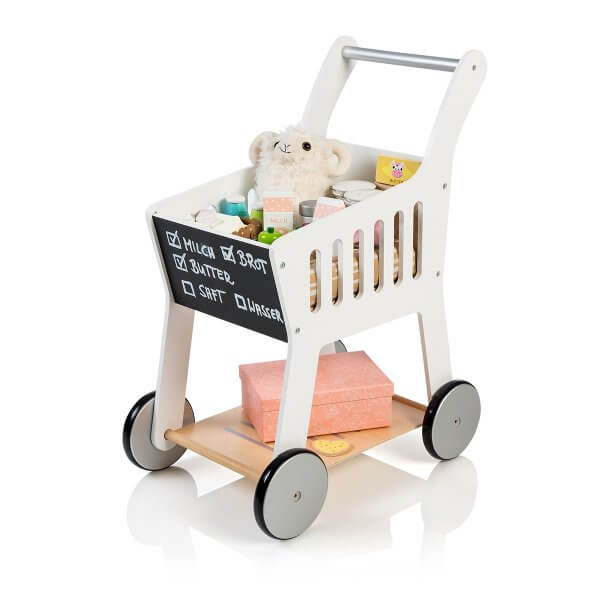 """Musterkind wooden shopping cart """"Rubus"""" white"""