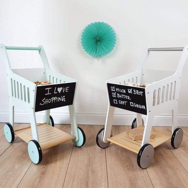 "Musterkind wooden shopping cart ""Rubus"", mint"