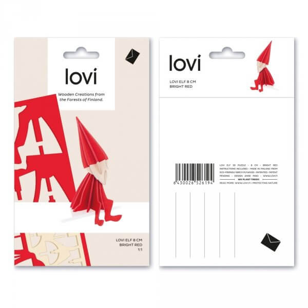 Lovi-roter-Holz-Elf-Postkarte