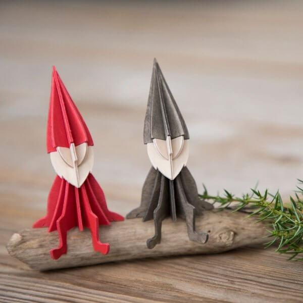 Lovi-DIY-Holz-elf-Dekoration-rot-grau