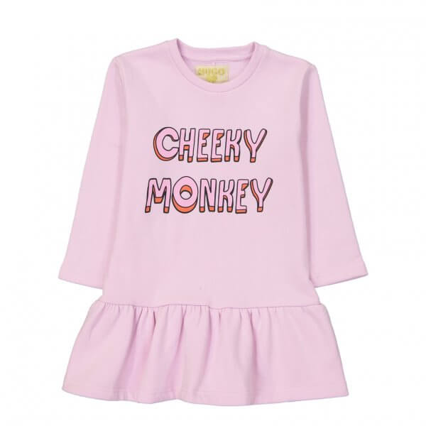 Hugo-loves-tiki-pink-dress-cheeky-monkey