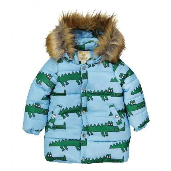 HUGO LOVES TIKI Winterjacke, Krokodil  Blue Crocodile