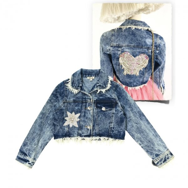 denim jacket teenager Dolly by Le Petit Tom