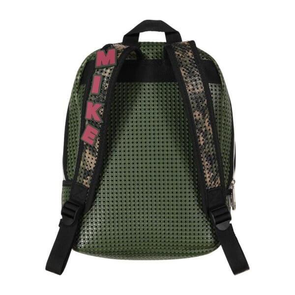leichter Rucksack militärgrün Schule hinten