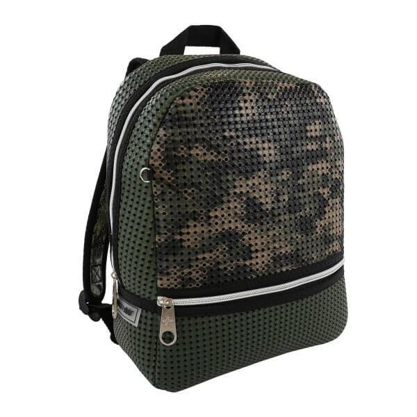leichter Rucksack militärgrün Schule Light plus Nine