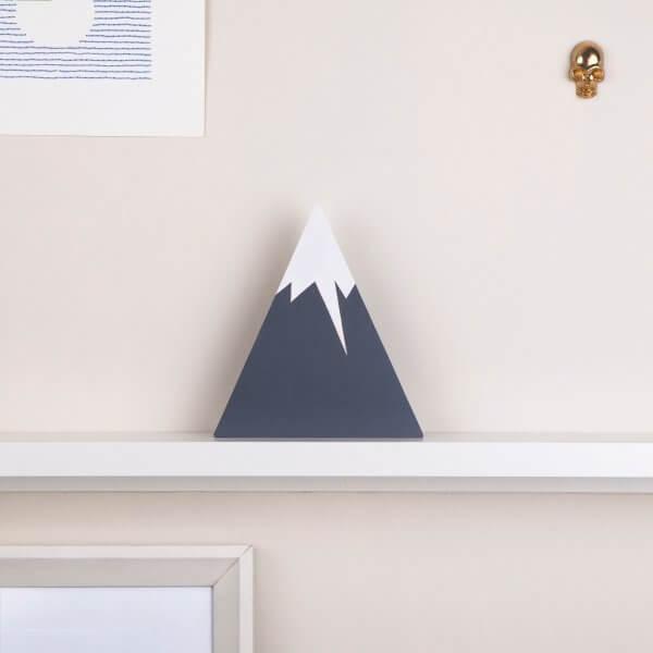 FIGG Lion Mountain - tolle Holzdeko für Regal und Wand. Grau. (Default)