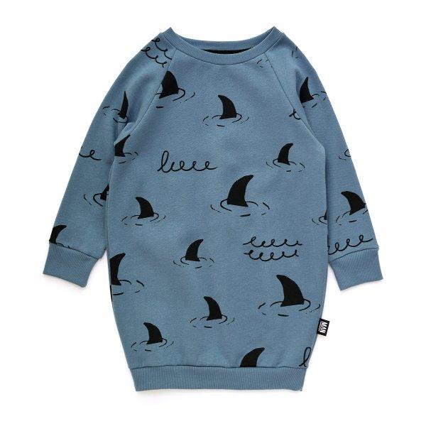 Little Man Happy girl sweater dress shark