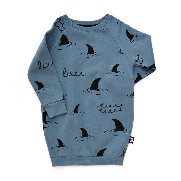 Little Man Happy sweater dress sharks