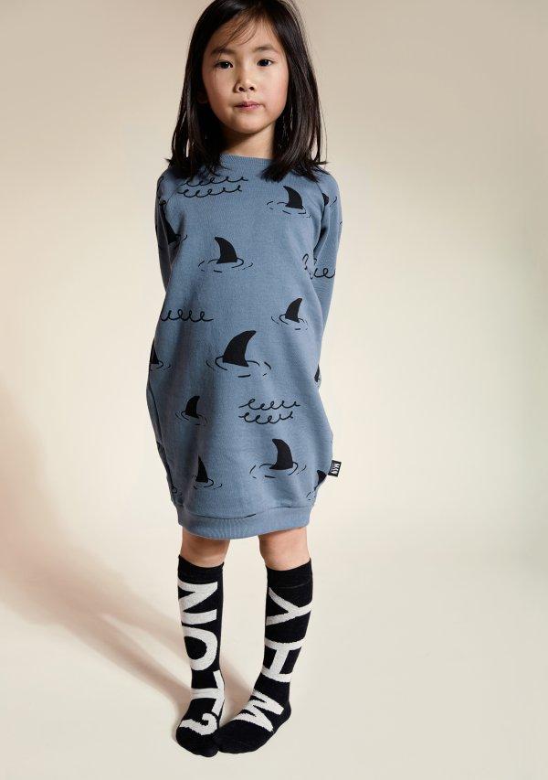 Little Man Happy girl sweater dress sharks