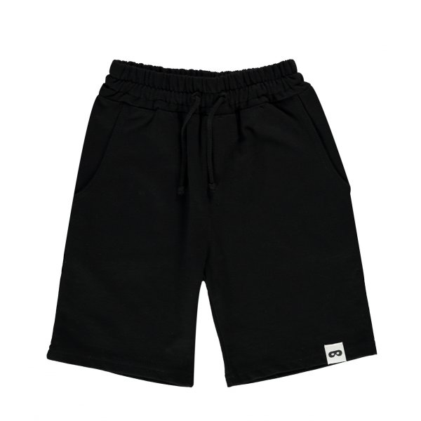 BEAU LOVES drawstring long shorts inky black