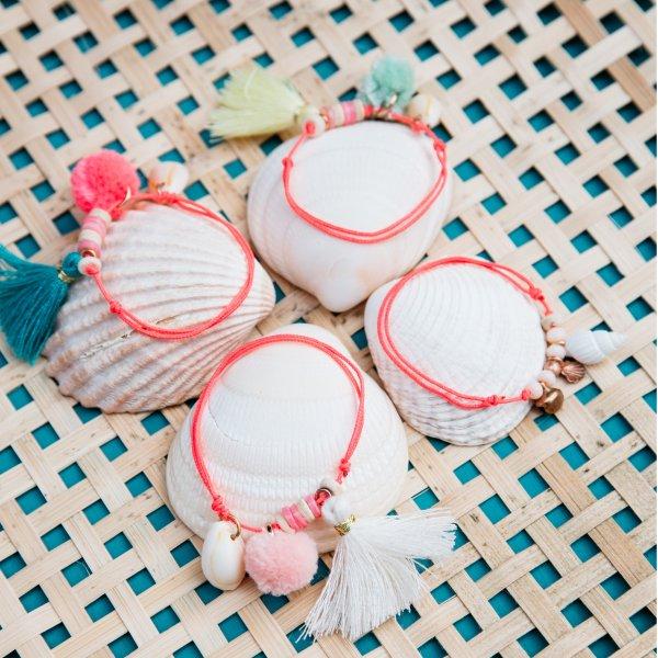 LOUISE MISHA Armband Aloha, Cream kinder