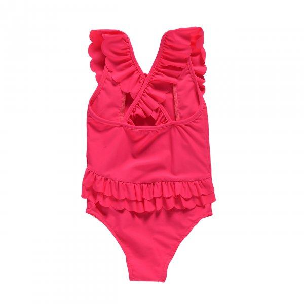 Louise Misha romantischer Kinder Badeanzug fluo pink