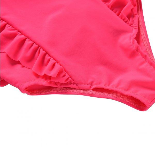 Louise Misha romantischer Kinder Badeanzug fluo pink 3