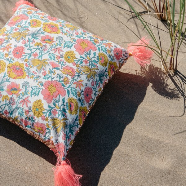 LOUISE MISHA Home, Pillow Marcata, Multi Flowers