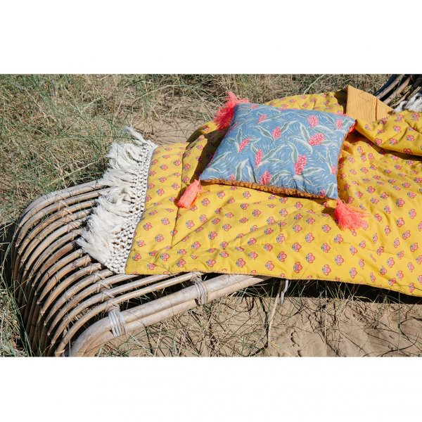 LOUISE MISHA Home, Pillow Marcata, Lagoon Leaves
