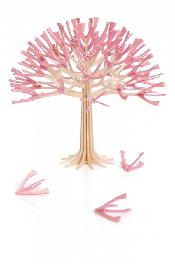 Lovi Cherry Tree 22 cm natural wood / cherry pink