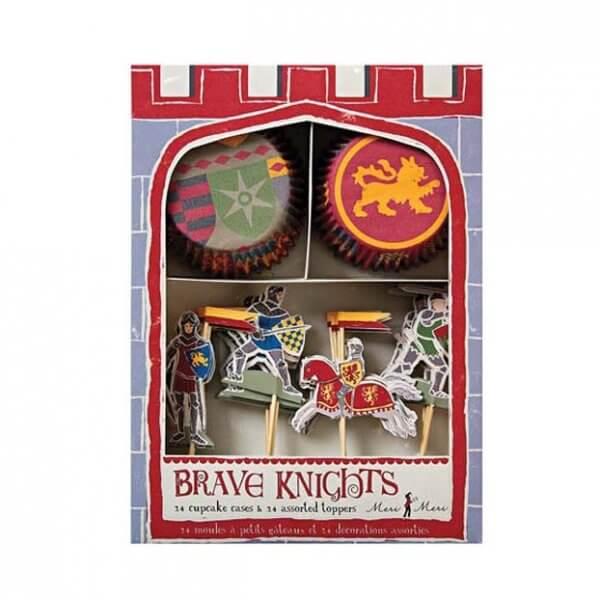 MERI MERI kleine Pappteller Brave Knights/ Tapfere Ritter - 12 Stk.