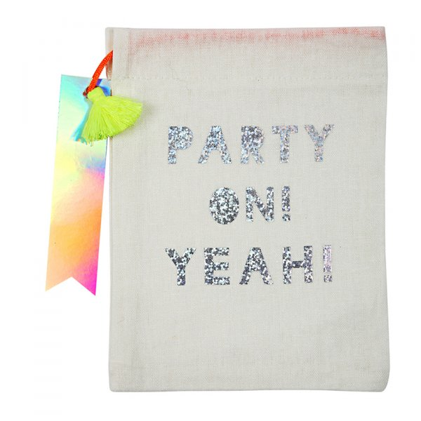 "MERI MERI ""Party on"" party bag, pack of 4"