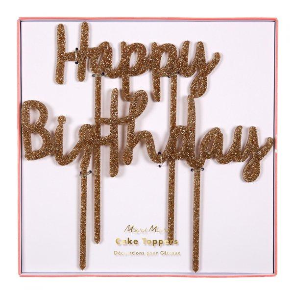 MERI MERI Happy Birthday Kuchendeko/cake topper