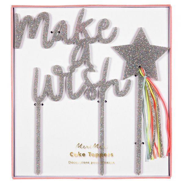 MERI MERI Make a wish Kuchendeko/cake topper