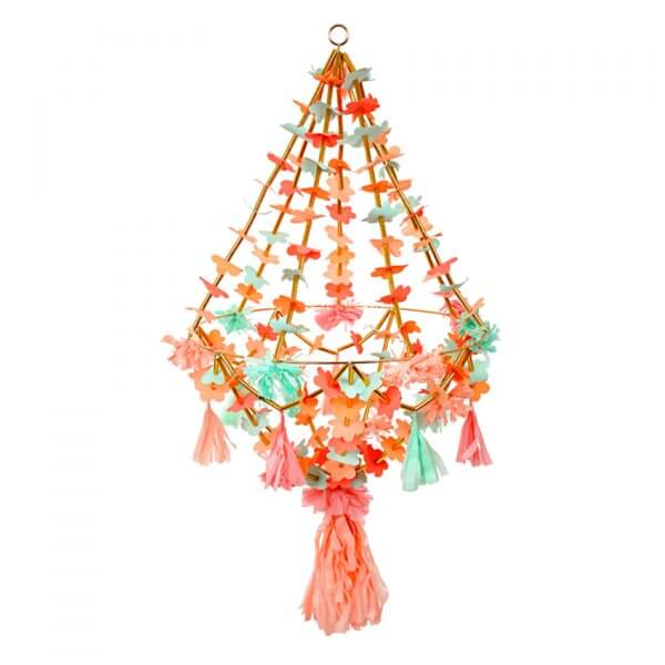 MERI MERI large fabric/paper chandelier