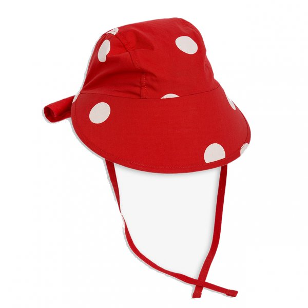 Sonnenmütze von Mini Rodini rot