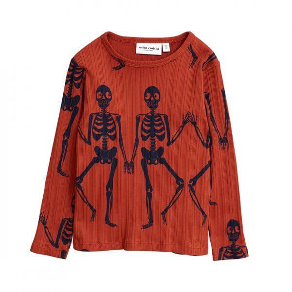 MINI RODINI, skeleton long sleeve t-shirt
