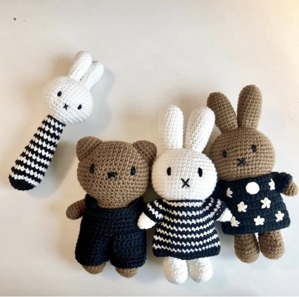 MIFFY handmade and her black flower dress with hat