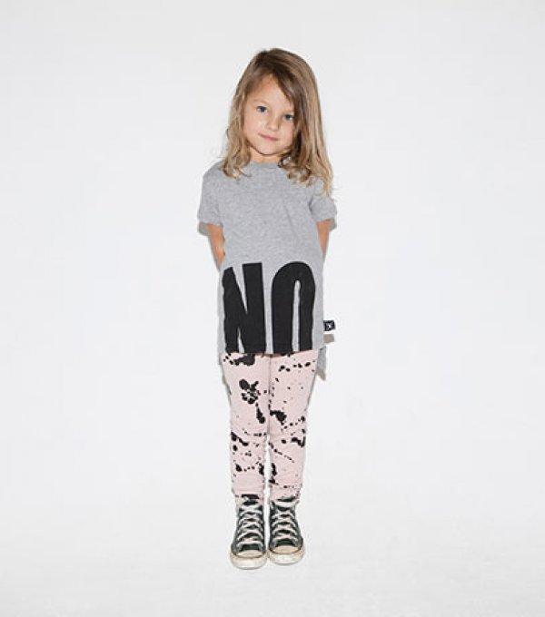 NUNUNU t-shirt No! 2 lenghts heather grey