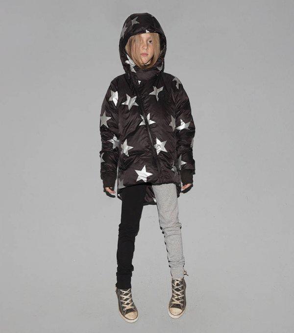 warme Winterjacke mit Sternen für Kinder
