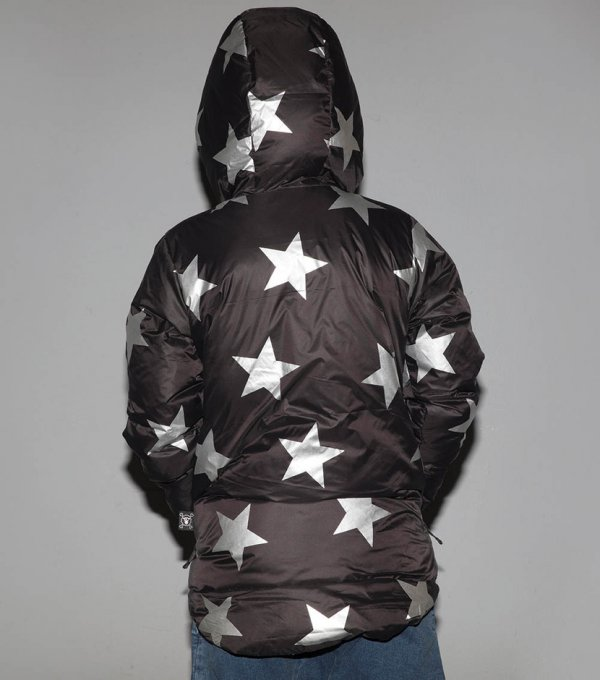 Daunenjacke mit Sternen für Kinder