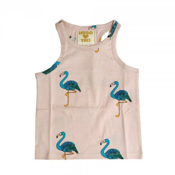 Hugo-loves-tiki-pinkes-Tanktop-flamingos